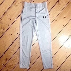 NWOT Under Armour gray silver athletic pants S